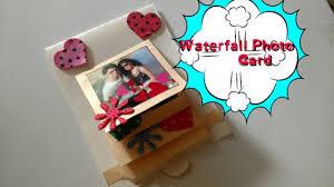 diy waterfall photo card making easy tutorial craftlas youtube