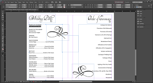 creating a wedding program wedding program templates wedding programs fast