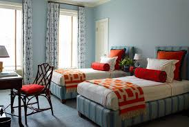 orange and blue bedroom orange and blue kids bedroom with butterfly bolster pillows