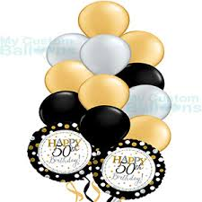 50th birthday balloon bouquets happy 50th gold birthday balloon bouquet 11 and 2 foil