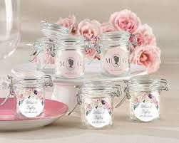 wedding favor jars personalized glass favor jars garden set of 12 kate