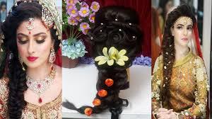traditional bridal hairstyle pakistani bridal hairstyles for mehndi night 2017 18
