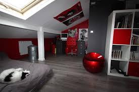 chambre ado grise décoration chambre garçon ado