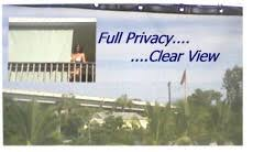 pti high privacy shade screen with good outward view