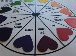 diy paint swatch color wheel purple house blog