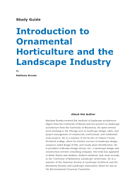 introduction to ornamental horticulture and the landscape industry