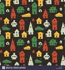different houses seamless pattern vector stock vector art