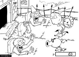 gloom shroom plants zombies coloring pages printable free