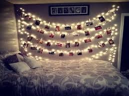 christmas bedroom decor diy icicle light faux headboard