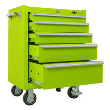 viper tool storage 26 inch 5 drawer 18g steel roller cabinet lime