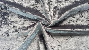 Gray Velvet Upholstery Fabric Strong Bonded Polyester Velvet For Upholstery Velour Fabric