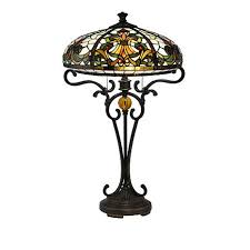 hsn tiffany style lighting dale tiffany boehme tiffany style table l 8501471 hsn