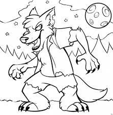 werewolf color terrible werewolf coloring sheet werewolf