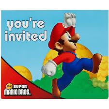 super mario bros invitations 8pk walmart