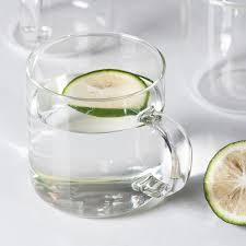 muji child glass mugs 360ml transparent glass mug with a handle