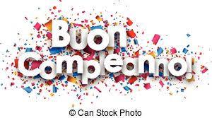 eps vectors of birthday gift italian illustration of