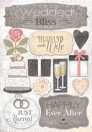 wedding scrapbook supplies foster design wedding collection cardstock stickers