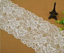 wide lace ribbon 15cm wide 5yards white elastic lace ribbon swiss stretch