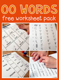 free worksheets for oo words worksheets words and activities