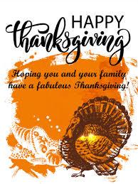 fashion turkey happy thanksgiving card birthday greeting