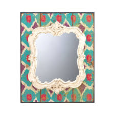 wholesale suppliers for home decor wholesale white wooden fleur de lis geometric arched wall mirror cheap
