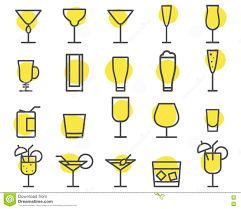 cocktail icon vector beverage icons set cocktail drinks vector outline symbols beer