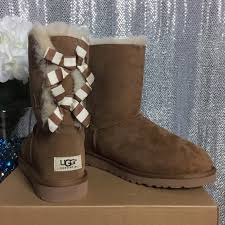 ugg bailey bow chestnut sale 45 ugg shoes sold ugg bailey bow stripe boots chestnut 8