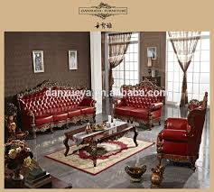 Genuine Leather Living Room Sets Antique Style Living Room Luxury Royal