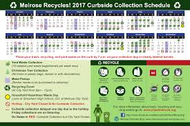 Waste Management Christmas Tree Pickup by Calendars U0026 Schedules City Of Melrose Massachusetts