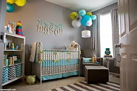 chambre bébé vert et gris décoration bleu et gris déco bébé gris et bleu bébé et