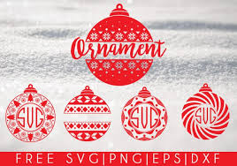 christmas ornaments free svg png dxf eps download