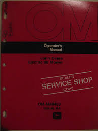 john deere 90 electric riding mower operator manual a4 u2022 8 99