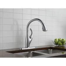 stainless steel delta addison kitchen faucet wall mount two handle