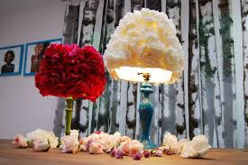 Fake Flowers My Camera My Mr Kate Diy Faux Flower Lampshade