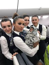 airline cabin crew turkish airlines cabin crew deliver baby mid flight