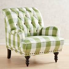 Green Chairs For Living Room Chas Green Plaid Chair Pier 1 Imports