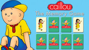 the caillou memory game caillou sprout