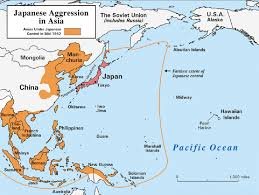 Map Of Aleutian Islands World War Ii Pacific Japanese Aggression In Asia Maps And