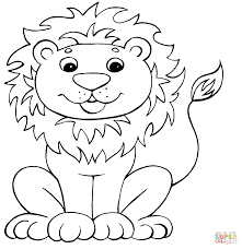 funny lion coloring page free printable coloring pages