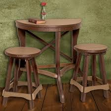 36 round bar height table amish poly half round patio pub table 3 piece set