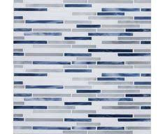 I ABSOLUTELY WANT THIS TILE Brown Cream And Blueglass Mosaic - Blue pearl granite backsplash ideas
