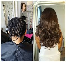 prett hair weave in chicago french braids with sew in short hair