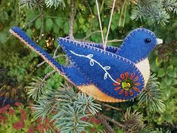 wool felt cardinal ornament cardinal ornament northern