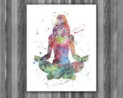 yoga art yoga poster yoga painting yoga art print yoga home