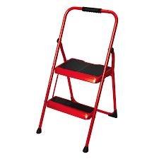 shop werner 2 step 200 lb cherry red steel step stool at lowes com