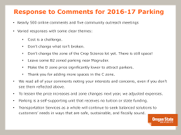 2016 17 zonal parking changes finance and administration