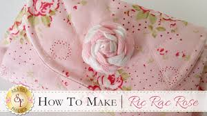 how to make a ric rac rose with jennifer bosworth of shabby