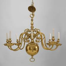 Georgian Chandeliers Georgian Style Brass Chandelier With 8 Scroll Form Arms