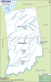 Southeastern Usa Map by Indiana Rivers Map Rivers In Indiana