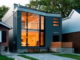 Houses For Narrow Lots Small Modern House With Split Level Interior Design Idea On